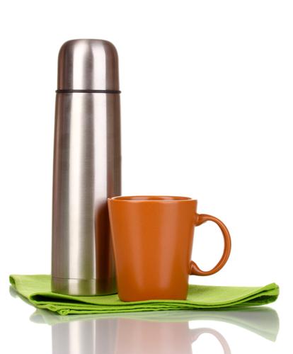 Металлический термос для чая и кофе
