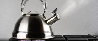 Чайник из нержавейки перед чисткой