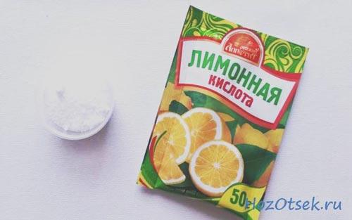 Лимонная кислота в чашке