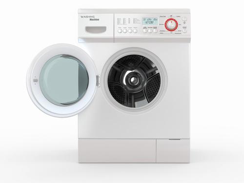 Ровно установленная стиральная машинка