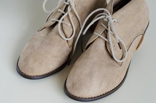 Замшевые чистые ботиночки