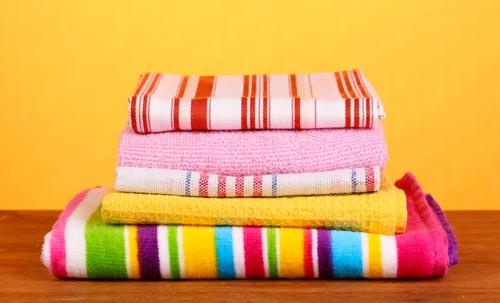 Чистые и свежие кухонные полотенца