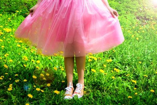 Пышная юбка из деликатной ткани