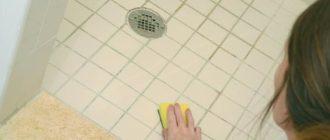 Удаление плесени на кафеле в ванной