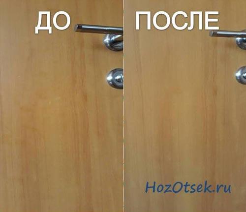 Чем отмыть межкомнатные двери от пятен фото