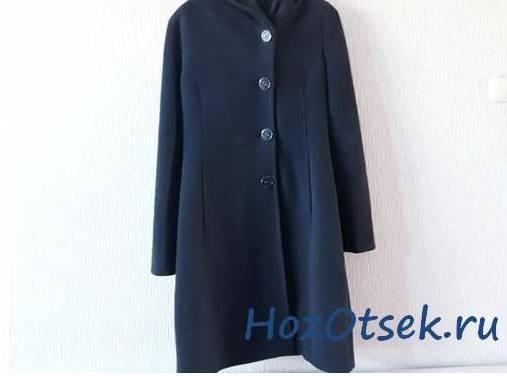 Пальто темно синее из шерсти