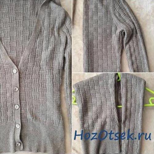 Как хранить трикотажный свитер на вешалке
