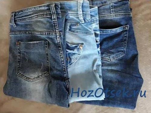 Чистые джинсы светлых и темных тонов