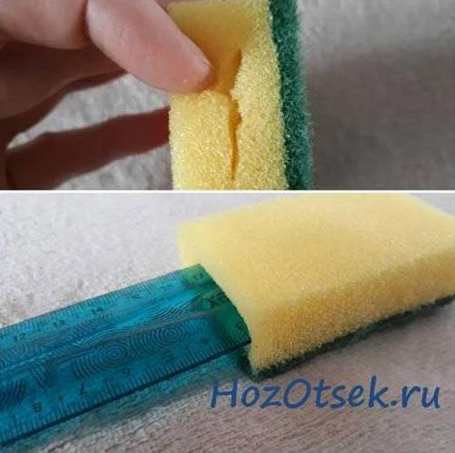 Поролоновая губка для мытья батареи