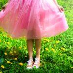 Пышная юбка в несколько слоев