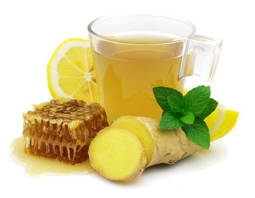 Мед и лимон для хранения имбиря