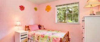 Разноцветное покрывало на кровати